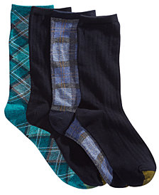 Gold Toe 4-Pk. Tartan Plaid Crew Socks 5974F