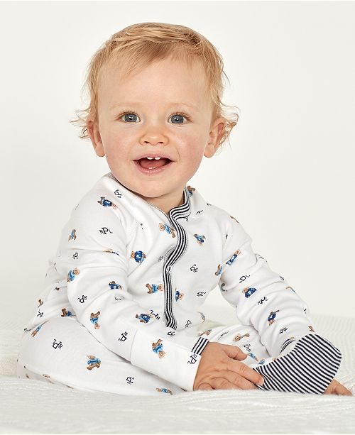 7ad5a07a Ralph Lauren Baby Boys Bear Printed Coverall