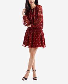 Lucky Brand Printed Fit & Flare Peasant Dress
