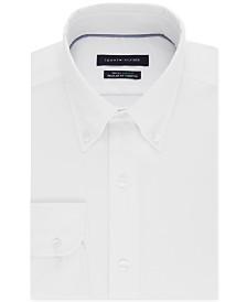 Tommy Hilfiger Men's Classic/Regular Fit TH Flex Non-Iron Supima Stretch Solid Dress Shirt