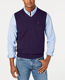 Tommy Hilfiger Men's V-Neck Sweater Vest, Created for Macy's