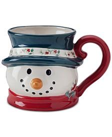 Winterberry Figural Snowman Mug