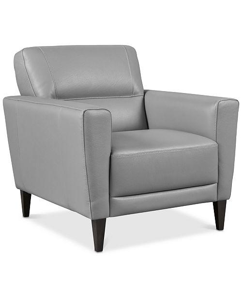 Groovy Tosella 33 Leather Armchair Created For Macys Inzonedesignstudio Interior Chair Design Inzonedesignstudiocom