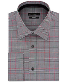 Sean John Men's Classic/Regular Fit Check French Cuff Dress Shirt