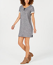 Style & Co French-Terry Lace-Up Dress, Created for Macy's