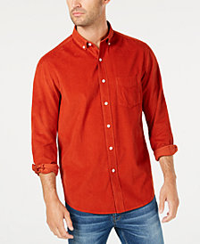 Club Room Men's Corduroy Pocket Shirt, Created for Macy's