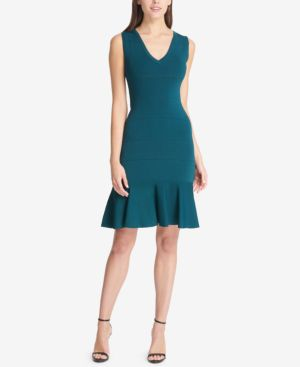 Vince Camuto V-Neck Flounce Dress 6874030