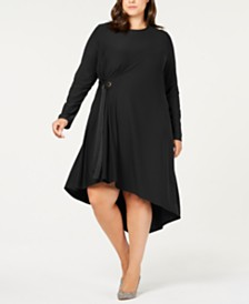Love Scarlett Plus Size Asymmetrical Side-Tie Dress