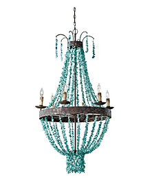 Regina Andrew Design Beaded Turquoise Chandelier