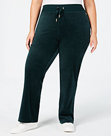 Calvin Klein Plus Size Velour Wide Leg Pants