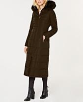 36ef73b109c7 Calvin Klein Faux-Fur-Trimmed Hooded Maxi Puffer Coat