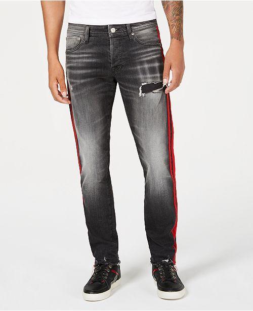 2745949739d ... Ripped Jeans; Jack & Jones Men's Glenn Slim-Straight Fit Side Stripe  Ripped ...