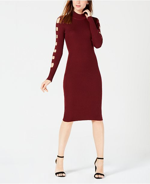 Almost Famous Juniors Cutout Sleeve Sweater Dress Dresses
