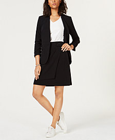 Bar III One-Button Blazer, V-Neck Top & A-Line Skirt, Created for Macy's