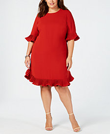 Alfani Plus Size Ruffle-Trim Dress, Created for Macy's