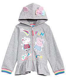 Peppa Pig Little Girls Graphic-Print Hoodie