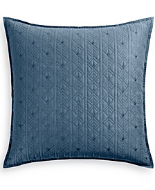 Hotel Collection Cascade 300-Thread Count Quilted European Sham, Created for Macy's