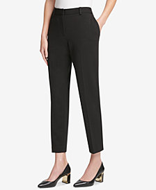 DKNY Tapered Ponte Ankle Pants, Created for Macy's