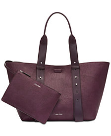 Calvin Klein Jane Leather Medium Tote