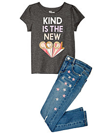 Epic Threads Little Girls T-Shirt & Star-Print Jeans, Created for Macy's