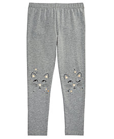 Epic Threads Little Girls Cat-Print Leggings, Created for Macy's