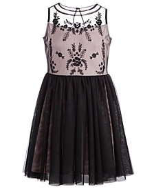 Epic Threads Big Girls Embroidered Tulle Dress, Created for Macy's