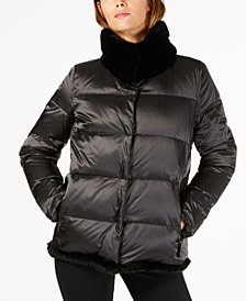 Weekend Max Mara Lepanto Fur Trim Puffer Coat