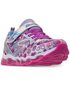 Skechers Little Girls' S Lights: Glimmer Lights - Sparkle Dreams Light Up Running Sneakers from Finish Line