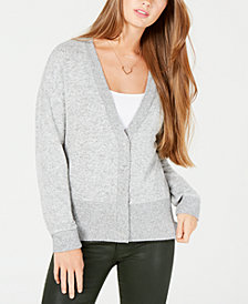 Hippie Rose Juniors' Snap-Front Hacci Cardigan