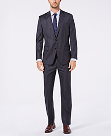 Lauren Ralph Lauren Men's Classic/Regular Fit UltraFlex Dark Gray Stripe Wool Suit