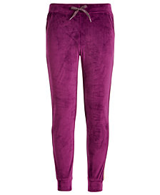 Ideology Big Girls Tuxedo-Stripe Velour Pants, Created for Macy's