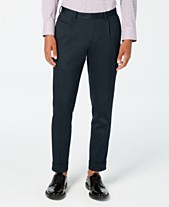 7880be35d Tallia Men's Slim-Fit Pleated Cropped Solid Dress Pants