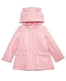Carter's Baby Girls Hooded Faux-Wool Coat