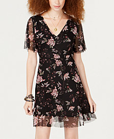 American Rag Juniors' Floral-Print Tie-Back Dress, Created for Macy's