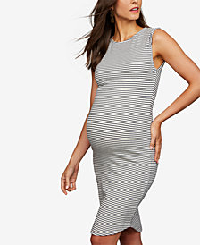 BB Dakota Maternity Striped Sheath Dress