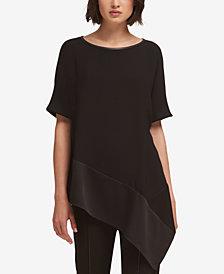 DKNY Asymmetrical Zippered Top, Created for Macy's