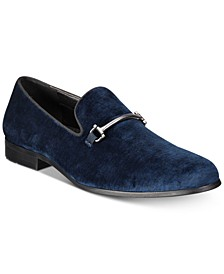INC Men's Harrow Velvet Smoking Slippers, Created for Macy's