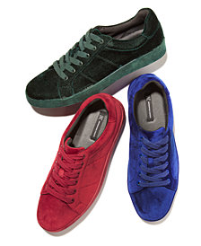 I.N.C. Men's Brogan Velvet Lace-Up Sneakers, Created for Macy's