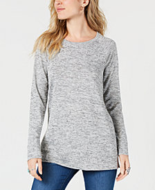 Style & Co Melange Raglan-Sleeve Knit Top, Created for Macy's