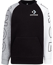 Converse Big Boys Colorblocked Logo Sweatshirt