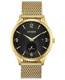 Drive from Citizen Eco-Drive Men's Gold-Tone Stainless Steel Mesh Bracelet Watch 40mm