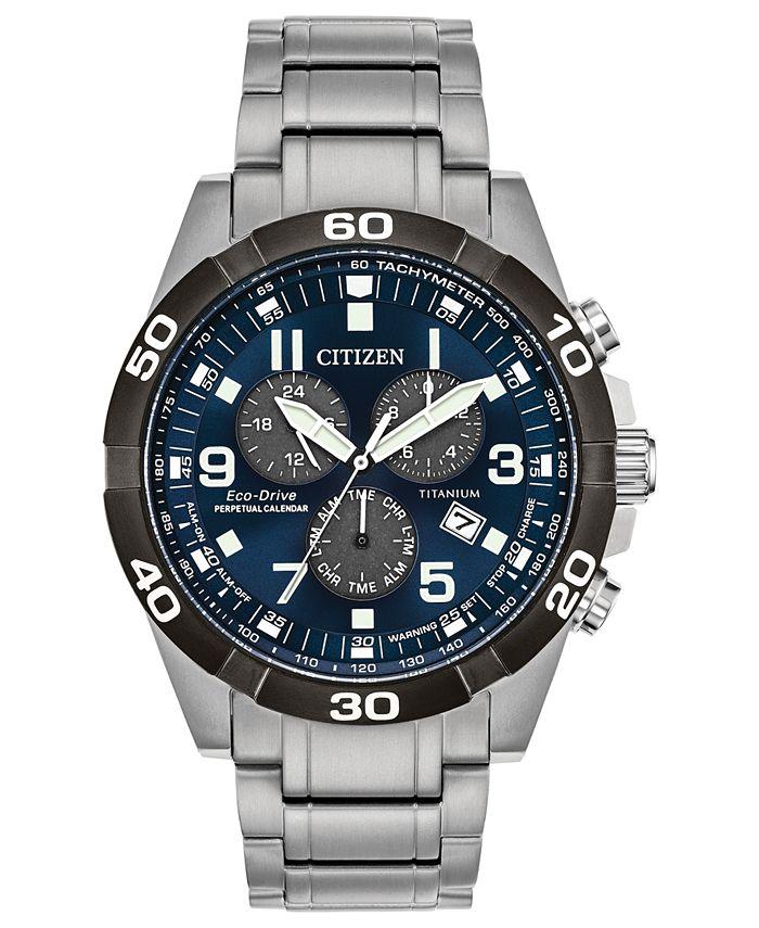 Citizen - Men's Chronograph Brycen Super Titanium Bracelet Watch 43mm