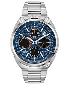 Eco-Drive Men's Chronograph Promaster Tsuno Racer Stainless Steel Bracelet Watch 45mm