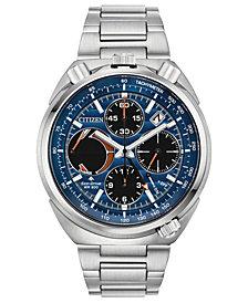 Citizen Eco-Drive Men's Chronograph Promaster Tsuno Racer Stainless Steel Bracelet Watch 45mm