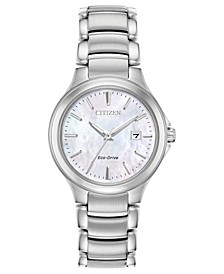 Eco-Drive Women's Chandler Stainless Steel Bracelet Watch 30mm