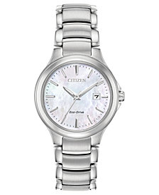 Citizen Eco-Drive Women's Chandler Stainless Steel Bracelet Watch 30mm