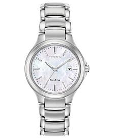 Citizen Eco-Drive Women's Chandler Stainless Steel Bracelet Watch 30mm