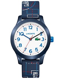 Lacoste Kid's 12.12 Blue Silicone Strap Watch 32mm