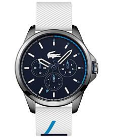 Men's Capbreton White Silicone Strap Watch 46mm