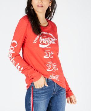 Cotton Coca-Cola Language T-Shirt in Salsa